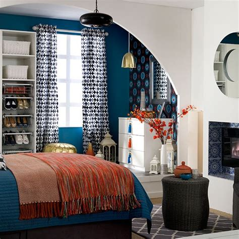 orange and blue bedroom blue bedroom with orange accents bedroom decorating
