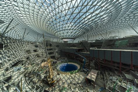 gallery  safdies jewel changi airport nears completion