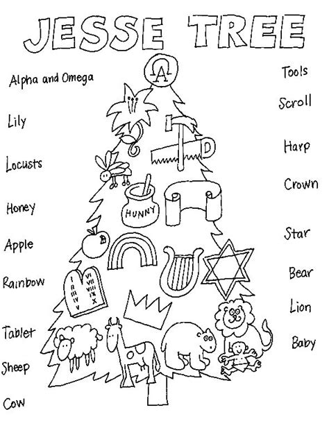 coloring pictures of christmas symbols 80 best liturgical year advent jesse tree images on