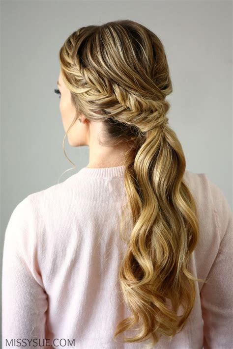 braided hairstyles on instagram fishtail embellished ponytail braided hairstyles