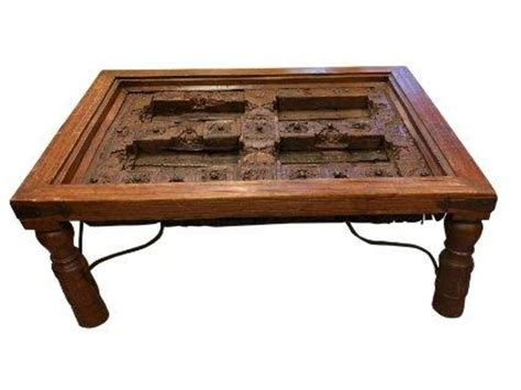 15 Diy Coffee Tables Made From Old Doors Guide Patterns Indian Door Coffee Table