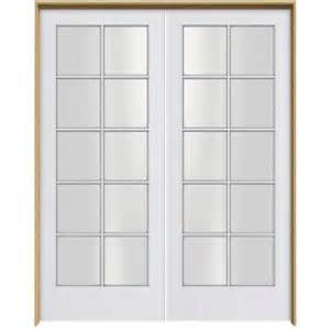 Home Depot Interior Double Doors Jeld Wen Smooth 10 Lite Primed Pine Prehung Interior
