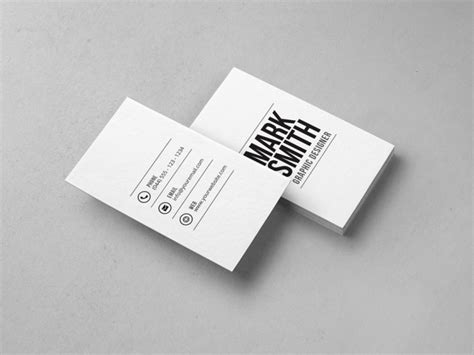 business card minimalist template simple archives graphic