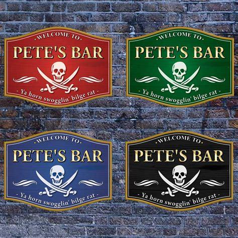 Bar Signs Jaf Graphics Traditional Barrel Shaped Pub Home Bar Sign