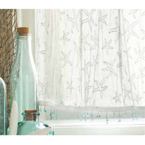 Beachy Curtains Designs Starfish Valances And Tiers