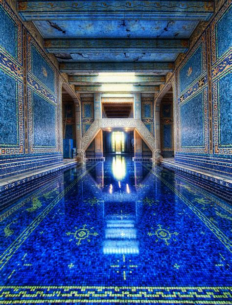 beautiful castles the azure blue indoor pool at hearst castle the meta picture