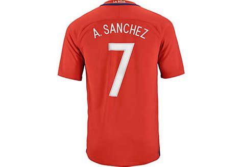 alexis sanchez barcelona jersey nike alexis sanchez chile home jersey 2016 chile jerseys