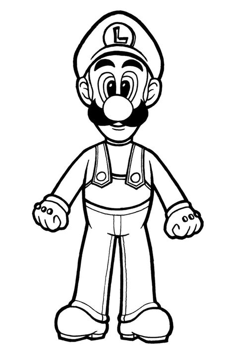 Mario 9 Coloring Pages by Luigi Coloring Page By Spiritvii Deviantart On