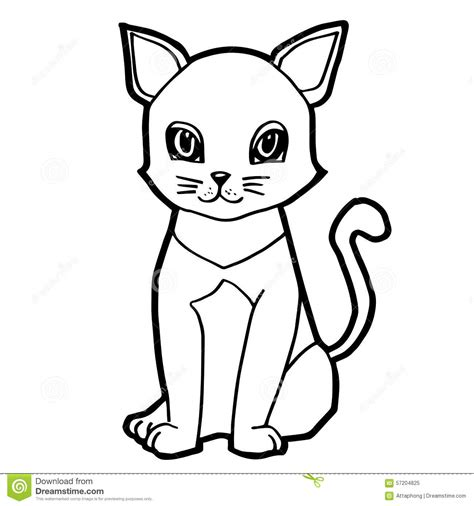 cartoon white cartoon cat black and white www pixshark com images