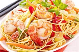 recette nouilles chinoises et crevettes au paprika au wok