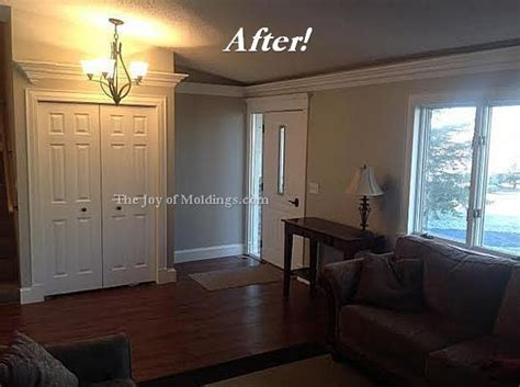 Crown Molding For Living Room by Before After Aaron S Livingroom Molding Makeover The