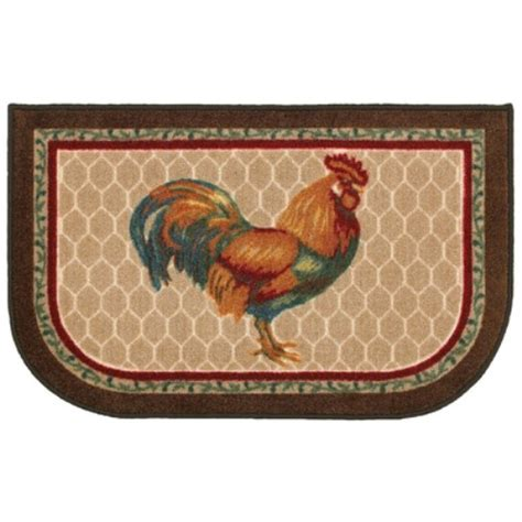 chicken rug shaw living 2 ft x 3 ft rooster kitchen rug shop your way shopping earn points on