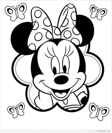 coloring pages of minnie mouse face minnie mouse face coloring pages timykids