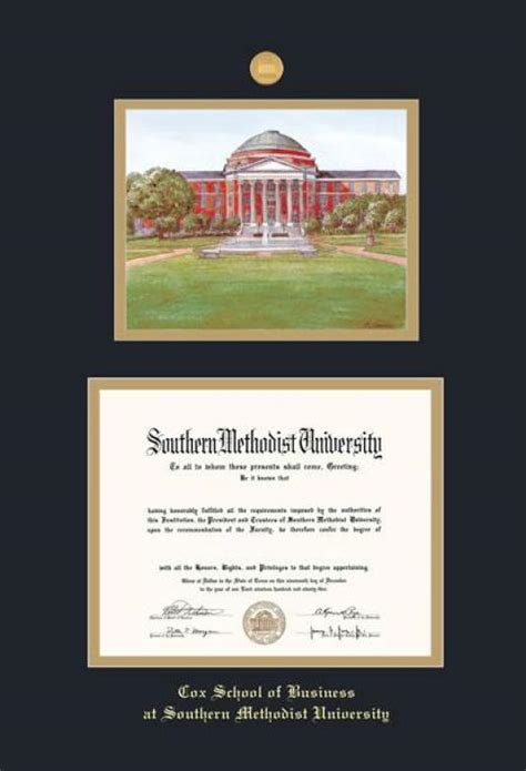 Mba Certificate At Cox School Smu by Custom Diploma Frames Certificate Frames Framing