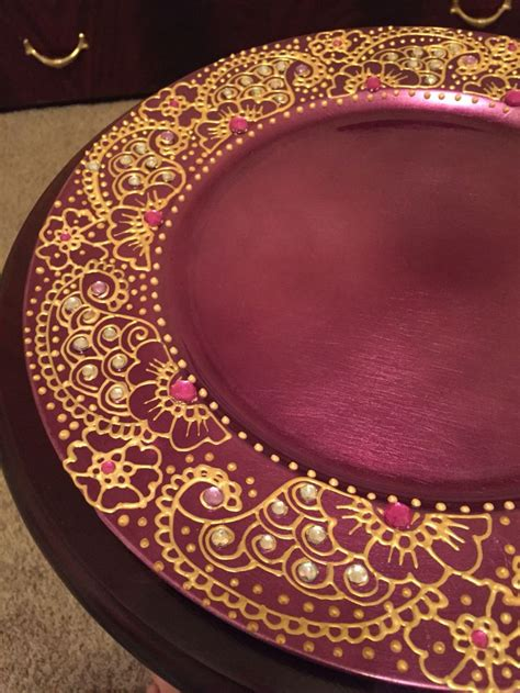 henna design plate charger plate henna plate https www etsy com listing