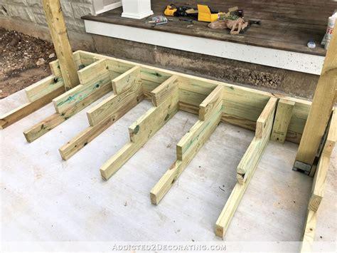 build porch steps  box method part  front