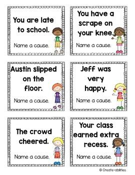 printable cause and effect poster cause and effect activities posters and printables by