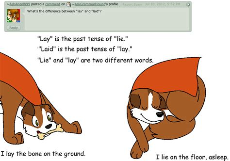 lying in bed or laying in bed question 19 lay vs lie by askgrammarhound on deviantart
