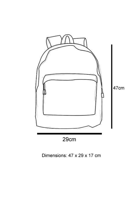 Faux Leather Plain Backpack streetwear faux leather plain rucksack backpack school