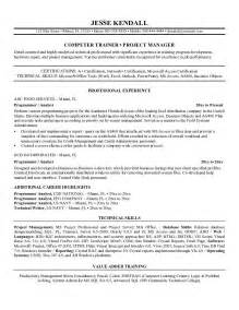 Resume Format Computer Operator Sample Resume For Computer Job