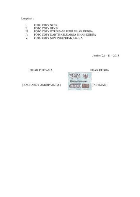 contoh surat perjanjian gadai bpkb 28 images contoh surat