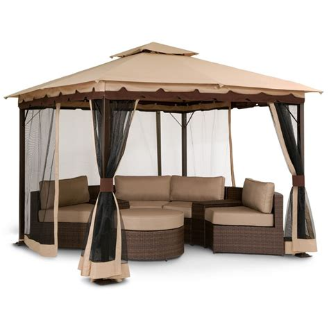 We Need This Gazebo So Bad Omg Patio Bali Gazebo With Outdoor Furniture Gazebo