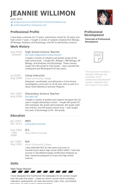 High School Resume Samples   VisualCV Resume Samples Database