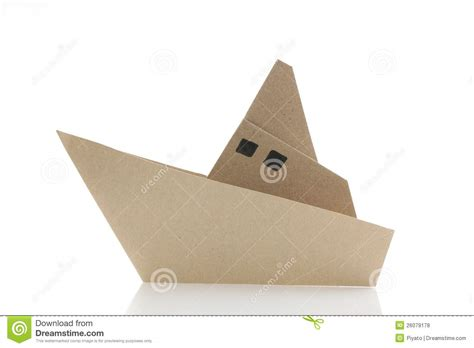 Origami Cruise Ship - origami boat royalty free stock photos image 26079178
