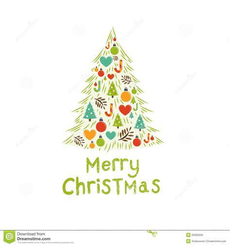 weihnachtsbaum karte vektor abbildung bild von modern