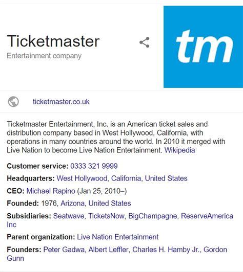 ticketmaster customer service contact number helpline