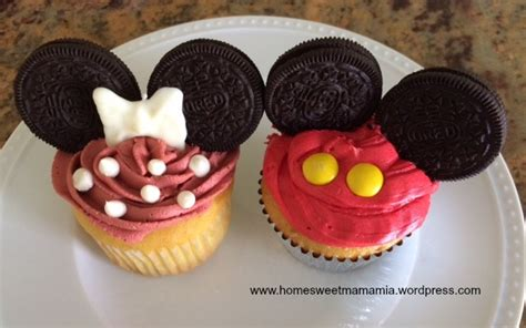 How To Decorate Cakes At Home by Mickey Mouse Cupcakes Home Sweet Mama Mia