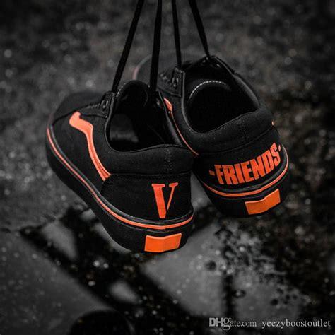 V Lone Friends Orange 2017 vlone friends black orange classic skate
