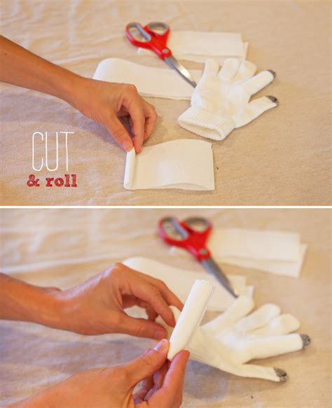 How To Make Paper Gloves - stuffed glove turkeys craft decoration