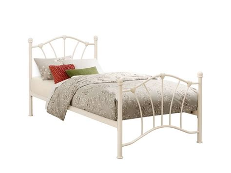 Birlea Sophia 3ft Single Cream Metal Bed Frame By Birlea Single Metal Frame Beds