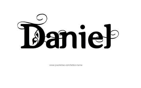 daniel name tattoo designs
