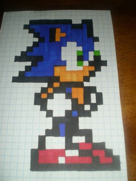Drawing 8 Bit Characters by 8 Bit Simple Sonic Pattern By Cheri Sson 8 Bit