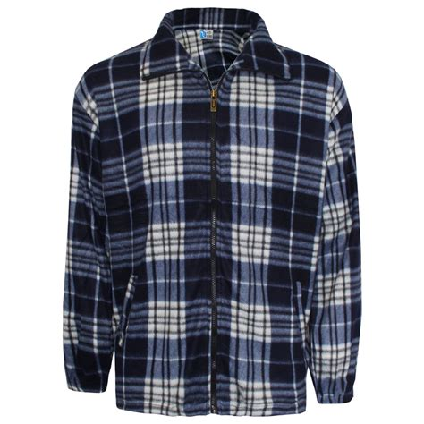 Shirt Moskav Lumber Flannel mens work winter zip shirt lumber flannel jacket warm check woven top m 4xl ebay