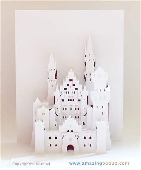 how to make a pop up castle card neuschwanstein castle popup card www amazingpopup