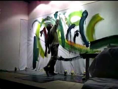 Painting G With A Twist by Live Performance Painting And