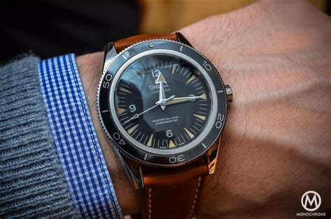 The Omega Seamaster 300 Master Co Axial Chronometer now on Leather strap (live pics, specs