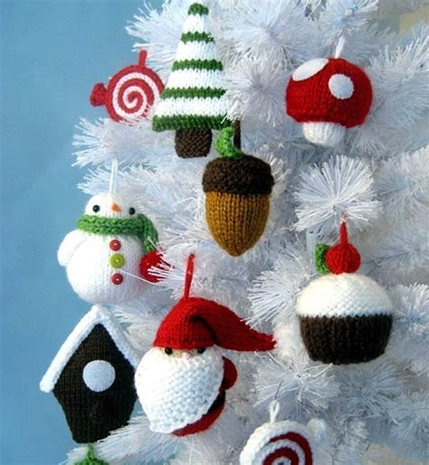 christmas home decor crafts homemade knitted christmas decorations home decorating ideas