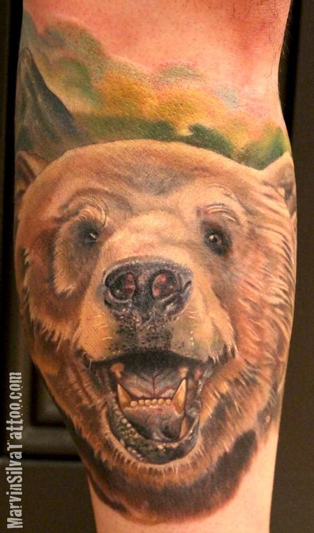 grizzly bear tattoo grizzly by marvin silva tattoos