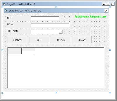 membuat database enum cara koneksi database mysql dengan visual basic 6 0 pedogity