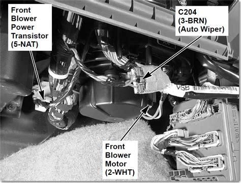 ac fan motor not working honda cr v blower motor resistor location wiring