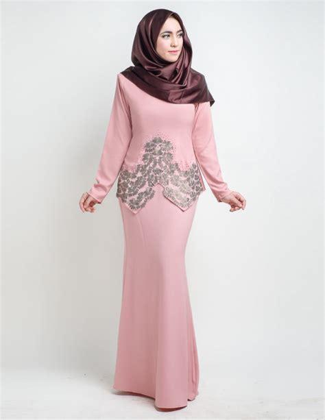 Baju Kurung Pink Lembut baju kurung moden saloma pink lovelysuri