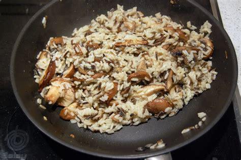 cocinar arroz salvaje arroz salvaje con setas shiitake receta de sergio