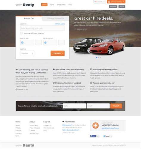 20 Best Car Rental Taxi Website Templates Free Premium Freshdesignweb Car Rental Website Template