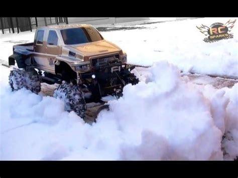 rc adventures overkill plows  heavy snow custom