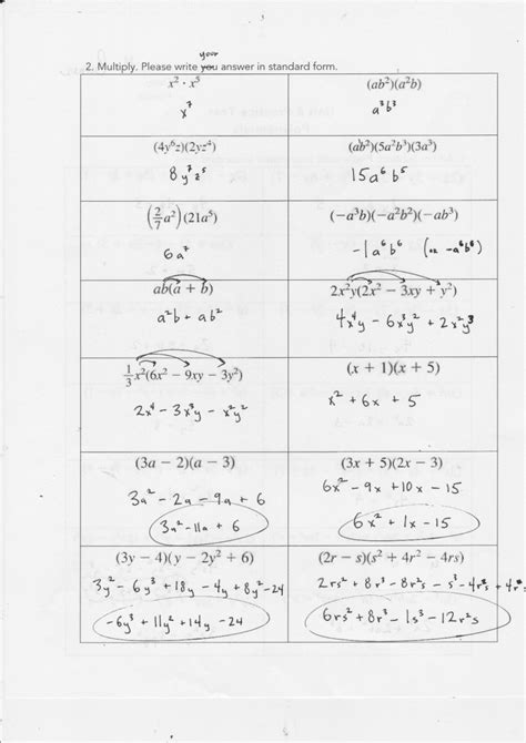 Factoring Polynomials Worksheet Answers by Factoring Gcf Polynomials Worksheet Worksheets