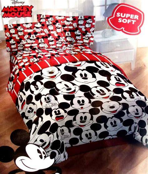 New Disney Mickey Mouse Selfies White Twin Comforter